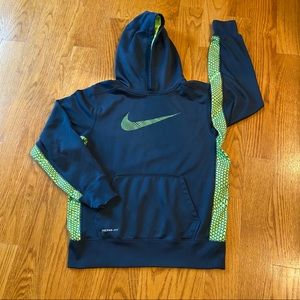 Boys Nike thermal fit sweat shirt hoodie sz Large